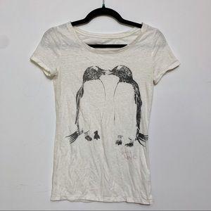 American Eagle Penguin Short Sleeve Graphic Tee